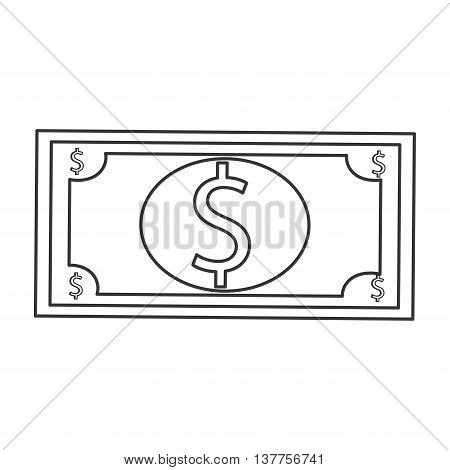 dollar bill usd money business isolated vector illustration