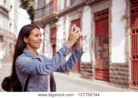 Sweet Young Girl With Cell Phone