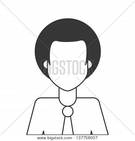Afro people person icon avatar isolated vector illustration