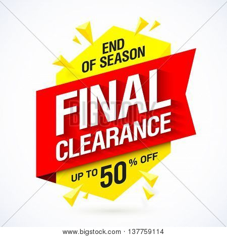 Final clearance sale banner