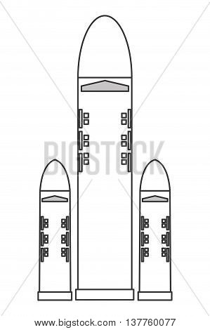 flat design space shuttle icon vector illustration