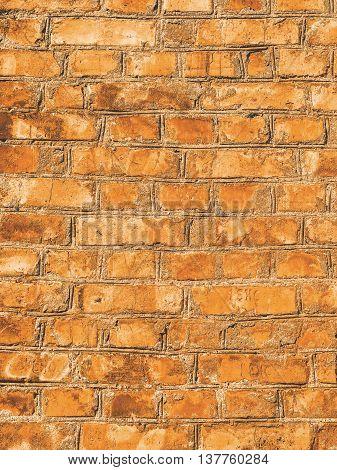 Matte Background Of Old Vintage Brick Wall. Grunge Textured Surface.