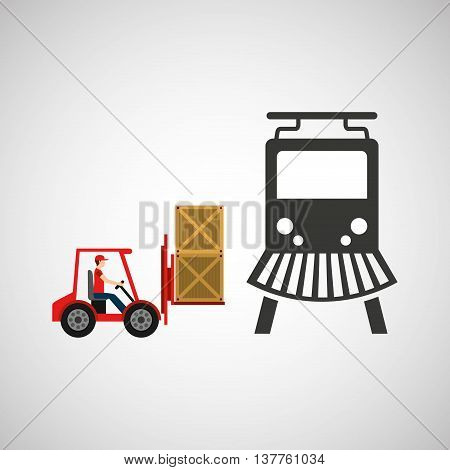 transportation delivery package isolated, vector illustration eps10