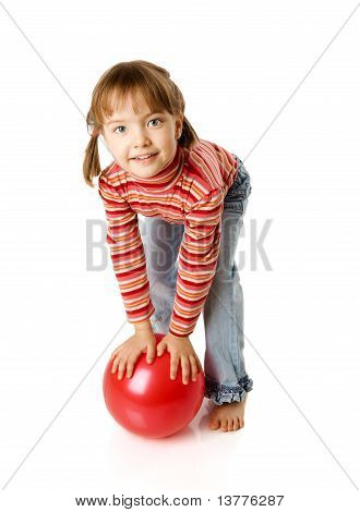 Girl Holding Ball