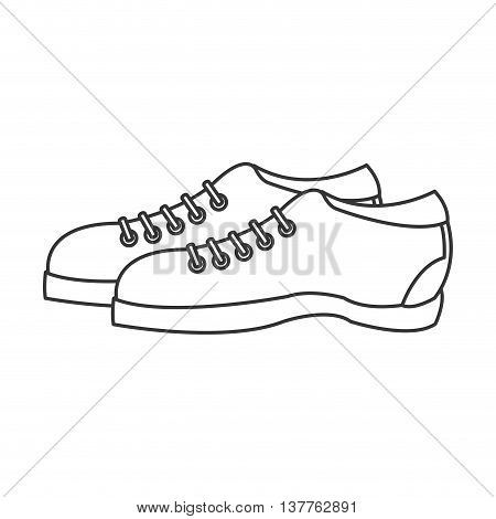 flat design pair of sneakers icon vector illustration