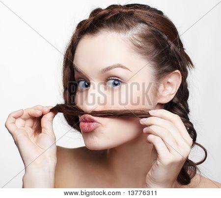 Mädchen mit kreative Hair-do