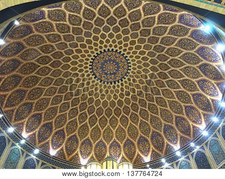DUBAI, UAE - JUN 19: Ibn Battuta Mall in Dubai, UAE, as seen on Jun 19, 2016. It is the worlds largest themed shopping mall. It consists of six courts. The Persia court is pictured here.