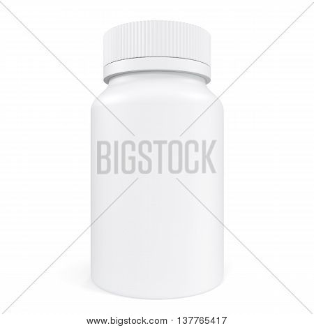 Pillbox unlabeled for medicine isolated on white background, 3d illustration