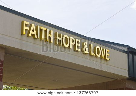 Lafayette, IN - Circa July 2016: Faith Hope & Love Cancer Center - Unity Cancer Center Provides Exceptional Comprehensive Cancer Care I