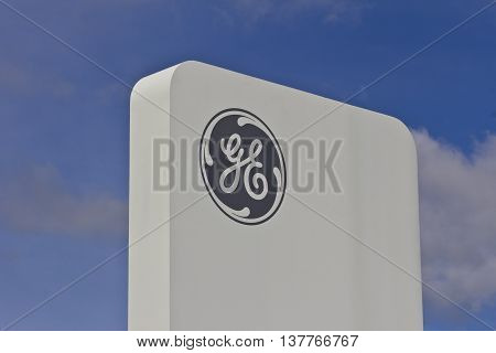 Lafayette, IN - Circa July 2016: General Electric Aviation Facility. GE Aviation is a Manufacturer of LEAP Jet Engines VIII