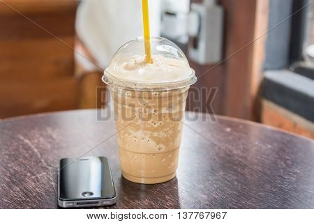 Coffee Blender Cappuccino And Mobile Phone