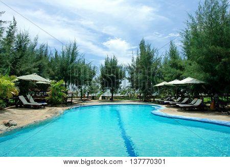 DA NANG, VIETNAM, June 14, 2016 pool, resort, city Da Nang, Vietnam