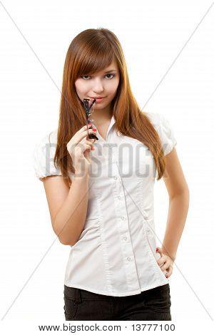 Woman Portrait With Glasses