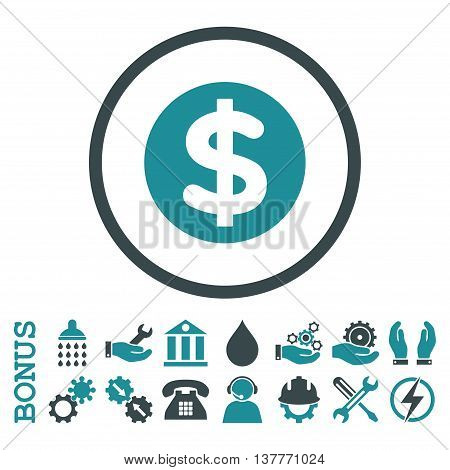 Finance glyph bicolor icon. Image style is a flat pictogram symbol inside a circle, soft blue colors, white background. Bonus images are included.
