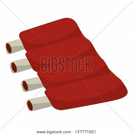 ribs bbq isolated icon design, vector illustration  graphic