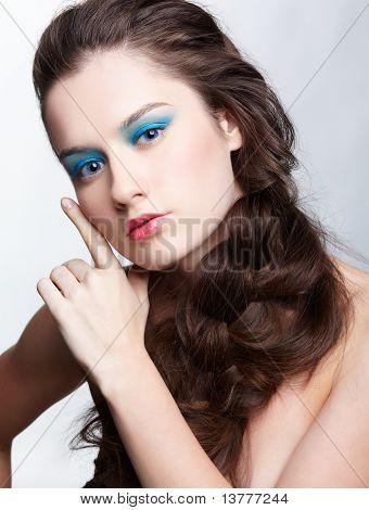 Mädchen mit kreative Hair do