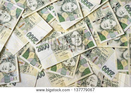 Czech Money Background