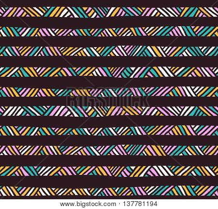 Abstract geometric seamless pattern. Ethnic decorative background.