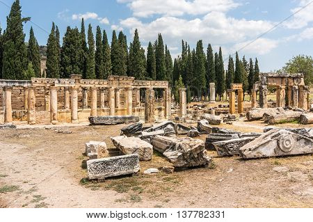 Ruins Of Hierapolis, Ancient City In Turkey