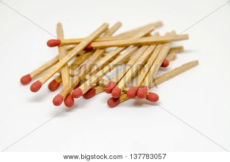 Close up of matches and a matchbox