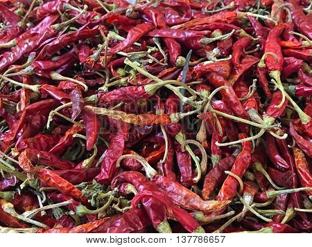 The Dried Chilli use for cooking. It very hot.