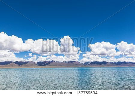 On the lake side of Namtso in Tibet