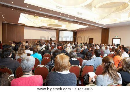 "Moscú - el 2 de octubre: Conferencia ""Stock en Rusia 09"" el 02 de octubre de 2009 en Holiday Inn Lesnaya, Mosco"
