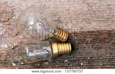 picture of a Old dusty small light bulb