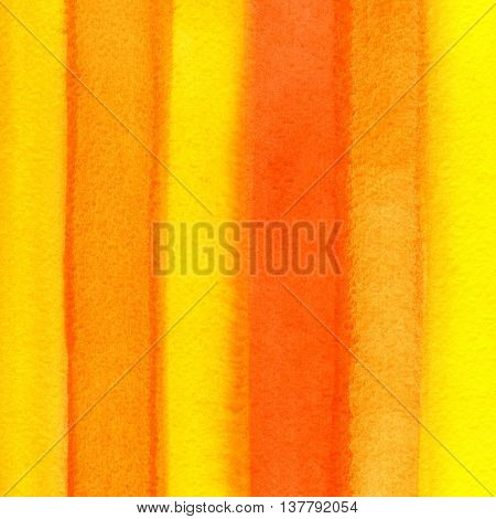 Bright orange background with abstract watercolor striped pattern