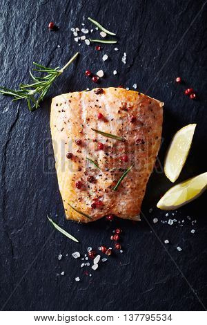 Oven-roasted salmon fillet with spices