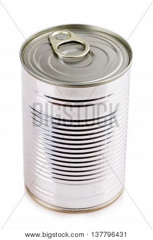 tin can Canned metal blank isolated on white