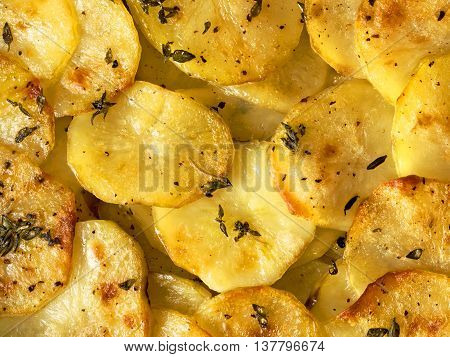 close up of rustic french golden anna potato