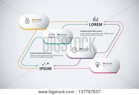 Technology Infographic Diagram Connection Content With Thin Line. Business Diagram For Presentation.