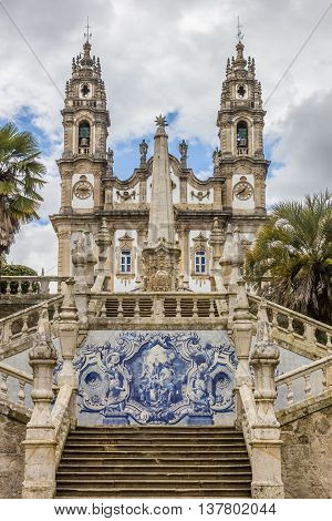 LAMEGO, PORTUGAL - APRIL 22, 2016: Sanctuary of Our Lady of Remedios in Lamego, Portugal