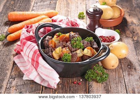 beef stew and vegetable