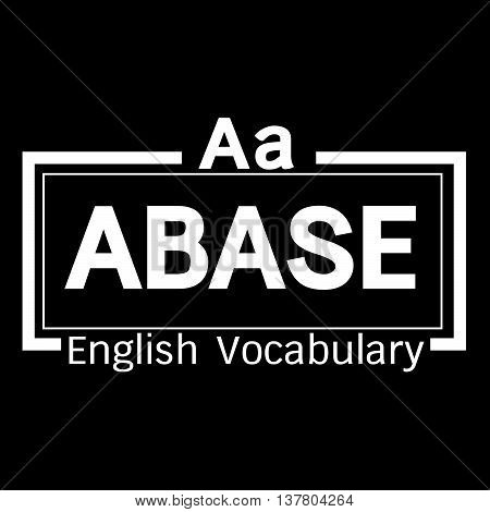 an images of ABASE english word vocabulary illustration design
