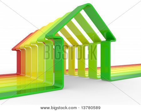 House And Scale Energy Efficiency Concept