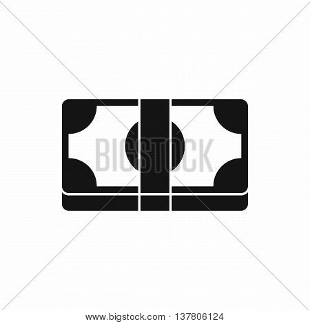 Packed dollars money icon in simple style isolated vector illustration