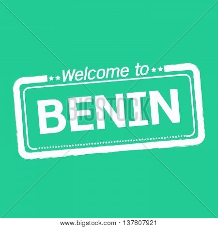 an images of Welcome to BENIN illustration design