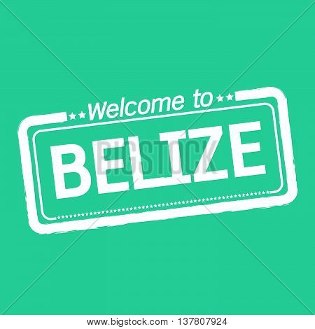 an images of Welcome to BELIZE illustration design