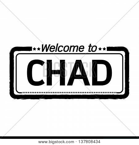 an images of Welcome to CHAD illustration design