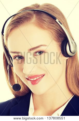 Call center girl.
