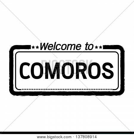 an images of Welcome to COMOROS illustration design