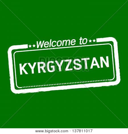 an images of Welcome to KYRGYZSTAN illustration design