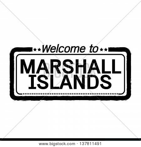 an images of Welcome to MARSHALL ISLANDS illustration design