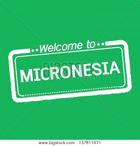 an images of Welcome to MICRONESIA illustration design