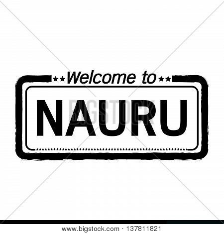 an images of Welcome to NAURU illustration design