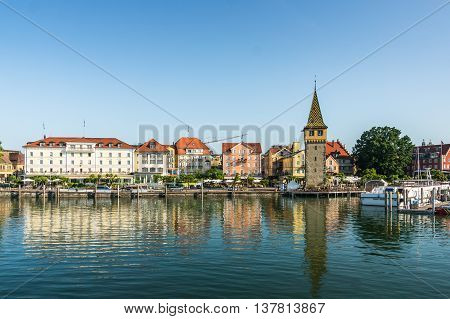 Harbor Of Lindau Island, Lake Constance, Germany