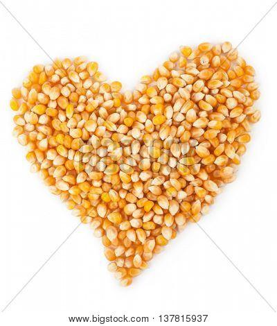 Corn seeds. Heart