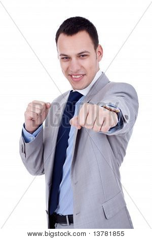 Business Man Ready To Fight